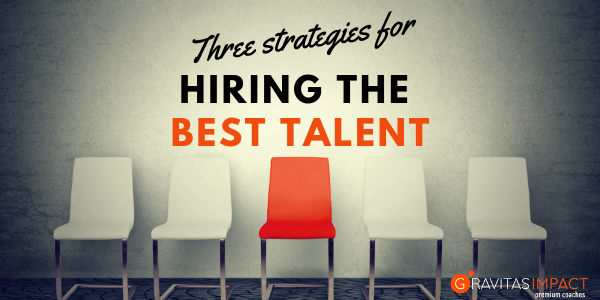 Three Strategies for Hiring the Best Talent